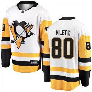 Sam Miletic Pittsburgh Penguins Fanatics Branded Youth Breakaway Away Jersey (White)