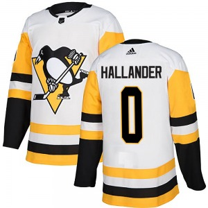 Filip Hallander Pittsburgh Penguins Adidas Youth Authentic Away Jersey (White)