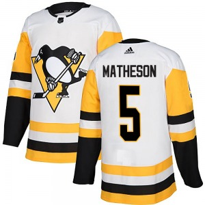 Mike Matheson Pittsburgh Penguins Adidas Youth Authentic Away Jersey (White)