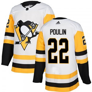 Samuel Poulin Pittsburgh Penguins Adidas Youth Authentic Away Jersey (White)