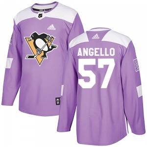 Anthony Angello Pittsburgh Penguins Adidas Authentic Fights Cancer Practice Jersey (Purple)