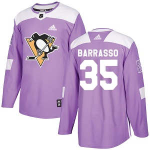 Tom Barrasso Pittsburgh Penguins Adidas Authentic Fights Cancer Practice Jersey (Purple)