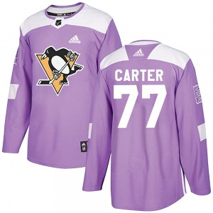 Jeff Carter Pittsburgh Penguins Adidas Authentic Fights Cancer Practice Jersey (Purple)