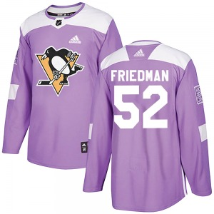 Mark Friedman Pittsburgh Penguins Adidas Authentic Fights Cancer Practice Jersey (Purple)