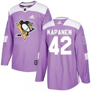 Kasperi Kapanen Pittsburgh Penguins Adidas Authentic Fights Cancer Practice Jersey (Purple)