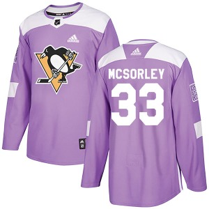 Marty Mcsorley Pittsburgh Penguins Adidas Authentic Fights Cancer Practice Jersey (Purple)