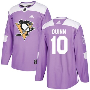 Dan Quinn Pittsburgh Penguins Adidas Authentic Fights Cancer Practice Jersey (Purple)