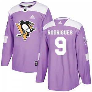 Evan Rodrigues Pittsburgh Penguins Adidas Authentic ized Fights Cancer Practice Jersey (Purple)