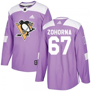 Radim Zohorna Pittsburgh Penguins Adidas Authentic Fights Cancer Practice Jersey (Purple)