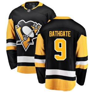 Andy Bathgate Pittsburgh Penguins Fanatics Branded Breakaway Home Jersey (Black)