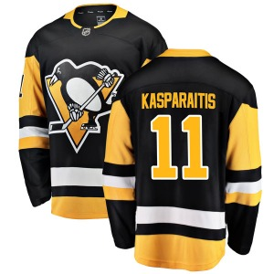 Darius Kasparaitis Pittsburgh Penguins Fanatics Branded Breakaway Home Jersey (Black)