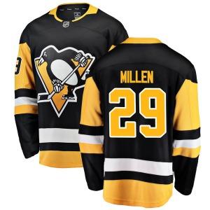 Greg Millen Pittsburgh Penguins Fanatics Branded Breakaway Home Jersey (Black)
