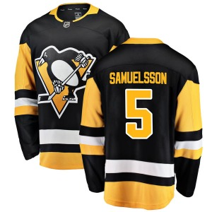 Ulf Samuelsson Pittsburgh Penguins Fanatics Branded Breakaway Home Jersey (Black)
