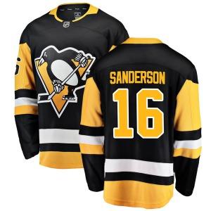 Derek Sanderson Pittsburgh Penguins Fanatics Branded Breakaway Home Jersey (Black)