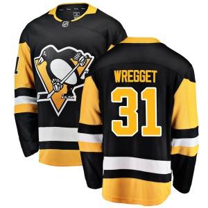 Ken Wregget Pittsburgh Penguins Fanatics Branded Breakaway Home Jersey (Black)