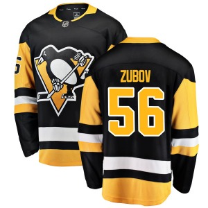 Sergei Zubov Pittsburgh Penguins Fanatics Branded Breakaway Home Jersey (Black)