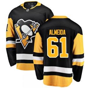 Justin Almeida Pittsburgh Penguins Fanatics Branded Youth Breakaway Home Jersey (Black)