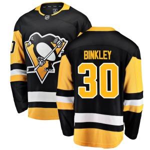 Les Binkley Pittsburgh Penguins Fanatics Branded Youth Breakaway Home Jersey (Black)