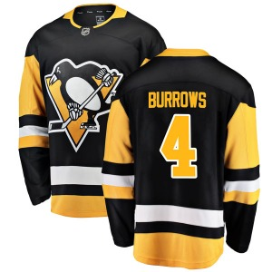 Dave Burrows Pittsburgh Penguins Fanatics Branded Youth Breakaway Home Jersey (Black)