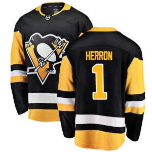 Denis Herron Pittsburgh Penguins Fanatics Branded Youth Breakaway Home Jersey (Black)