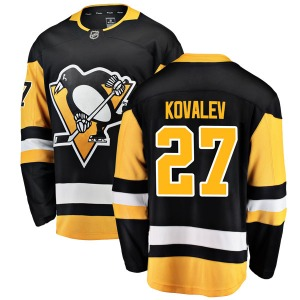 Alex Kovalev Pittsburgh Penguins Fanatics Branded Youth Breakaway Home Jersey (Black)