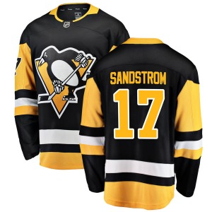 Tomas Sandstrom Pittsburgh Penguins Fanatics Branded Youth Breakaway Home Jersey (Black)