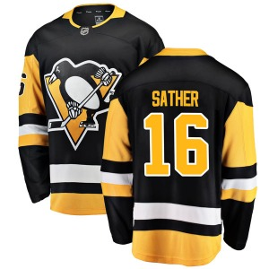 Glen Sather Pittsburgh Penguins Fanatics Branded Youth Breakaway Home Jersey (Black)
