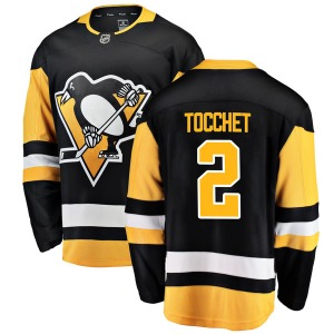 Rick Tocchet Pittsburgh Penguins Fanatics Branded Youth Breakaway Home Jersey (Black)