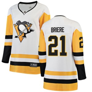 Michel Briere Pittsburgh Penguins Fanatics Branded Women's Breakaway Away Jersey (White)