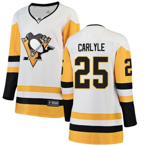 Randy Carlyle Pittsburgh Penguins Fanatics Branded Women's Breakaway Away Jersey (White)