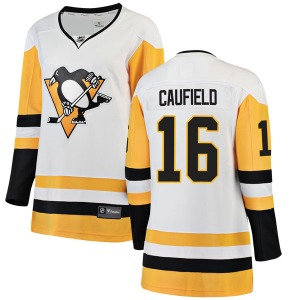 Jay Caufield Pittsburgh Penguins Fanatics Branded Women's Breakaway Away Jersey (White)