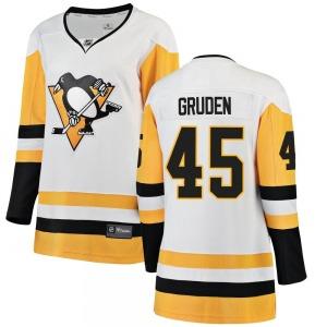 Jonathan Gruden Pittsburgh Penguins Fanatics Branded Women's Breakaway Away Jersey (White)