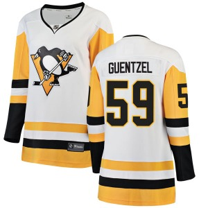 Jake Guentzel Pittsburgh Penguins Fanatics Branded Women's Breakaway Away Jersey (White)