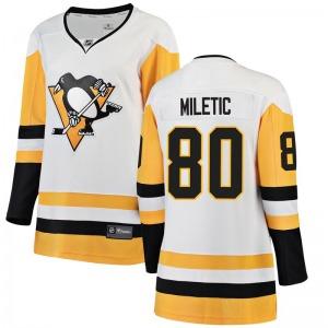 Sam Miletic Pittsburgh Penguins Fanatics Branded Women's Breakaway Away Jersey (White)