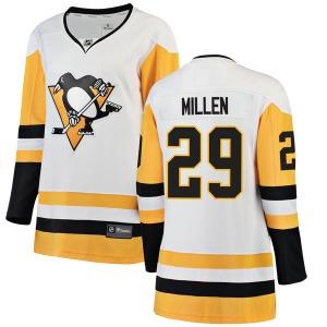Greg Millen Pittsburgh Penguins Fanatics Branded Women's Breakaway Away Jersey (White)
