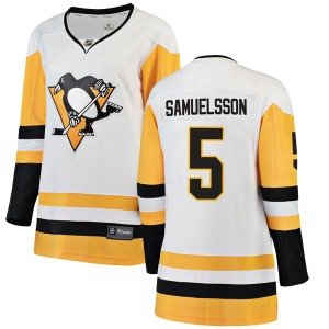 Ulf Samuelsson Pittsburgh Penguins Fanatics Branded Women's Breakaway Away Jersey (White)
