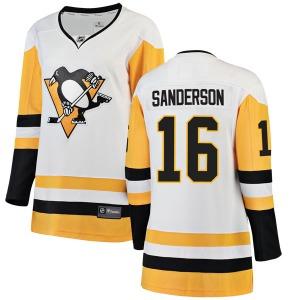 Derek Sanderson Pittsburgh Penguins Fanatics Branded Women's Breakaway Away Jersey (White)