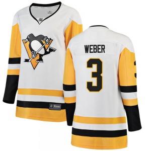 Yannick Weber Pittsburgh Penguins Fanatics Branded Women's Breakaway Away Jersey (White)