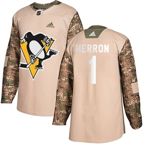 Denis Herron Pittsburgh Penguins Adidas Youth Authentic Veterans Day Practice Jersey (Camo)