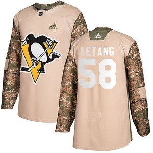 Kris Letang Pittsburgh Penguins Adidas Youth Authentic Veterans Day Practice Jersey (Camo)