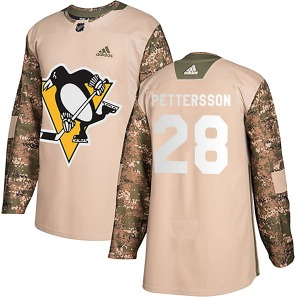Marcus Pettersson Pittsburgh Penguins Adidas Youth Authentic Veterans Day Practice Jersey (Camo)