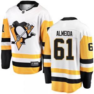 Justin Almeida Pittsburgh Penguins Fanatics Branded Breakaway Away Jersey (White)