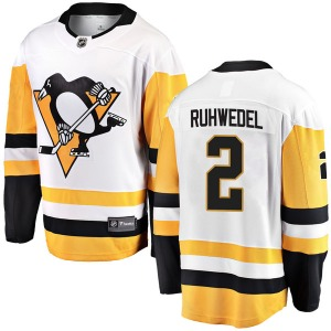 Chad Ruhwedel Pittsburgh Penguins Fanatics Branded Breakaway Away Jersey (White)