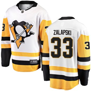 Zarley Zalapski Pittsburgh Penguins Fanatics Branded Breakaway Away Jersey (White)