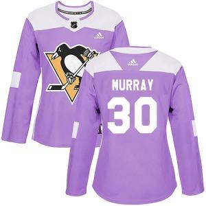 Matt Murray Pittsburgh Penguins Adidas Women's Authentic Fights Cancer Practice Jersey (Purple)