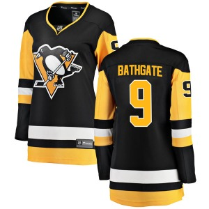 Andy Bathgate Pittsburgh Penguins Fanatics Branded Women's Breakaway Home Jersey (Black)