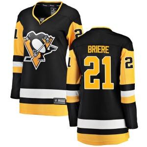 Michel Briere Pittsburgh Penguins Fanatics Branded Women's Breakaway Home Jersey (Black)