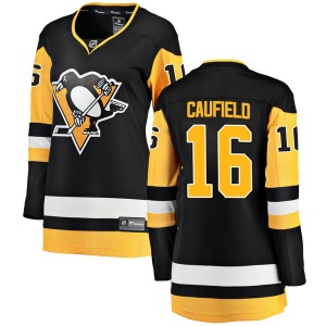 Jay Caufield Pittsburgh Penguins Fanatics Branded Women's Breakaway Home Jersey (Black)