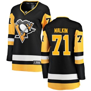Evgeni Malkin Pittsburgh Penguins Fanatics Branded Women's Breakaway Home Jersey (Black)