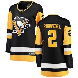 Chad Ruhwedel Pittsburgh Penguins Fanatics Branded Women's Breakaway Home Jersey (Black)